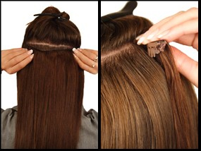 cheap clip on hair extensions3 - CLIP ON lasni naravni ali sintetični podaljški: uporaba in nega