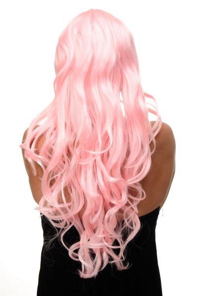 Svetlo roza lasulja s kodri model: 9204S