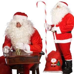 PH dedek mraz kostum 12 set 1 1 300x300 - Kostum za božička  set obleka 12 delni pliš in debela obroba