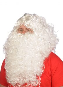 PH dedek mraz kostum brada lasulja 2 1 217x300 - Kostum za božička  set obleka 12 delni pliš in debela obroba