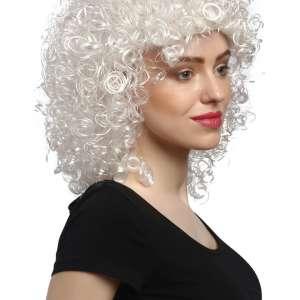 VK 90828 2 300x300 - Božična lasulja  skodrana kratka bela  Angel  VK-90828