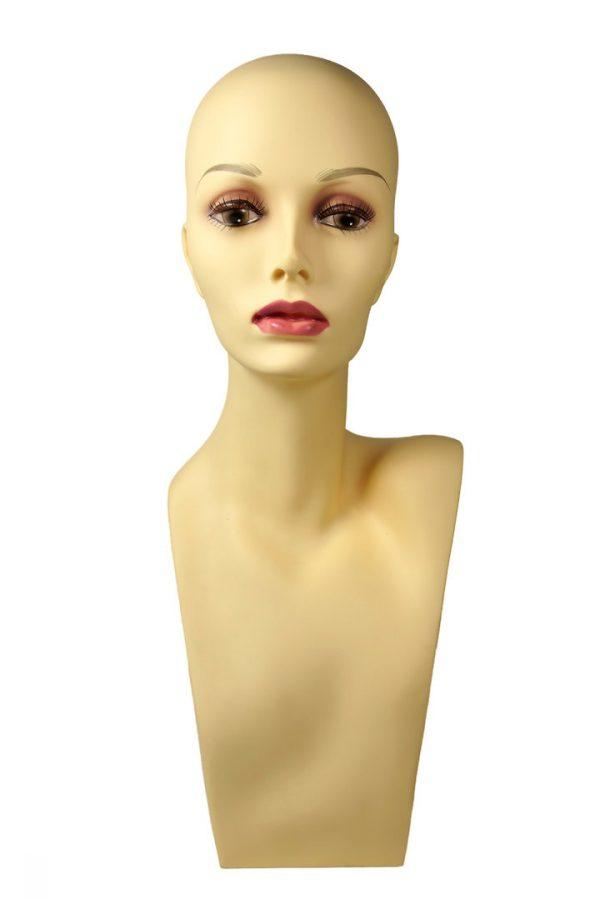 VK M13 PDHA 1 11 600x900 - Glava plastična za hrambo lasulj z make up-om  RAMENA VK-PDHA