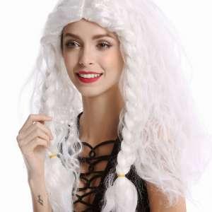 vk 91154 ZA68 ZA62J351  02 300x300 - Božična lasulja bela skodrana s kitami Snow Queen  VK-91154