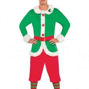 PB 843651 KOSTUM SKRAT 300x300 - Elf škrat pomočnik Dedka mraza kostum moški PB-843651-55