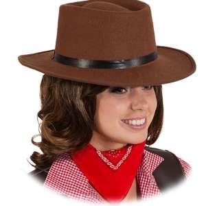 OB 23054 300x300 - Pustni dodatki ženski klobuk Wild Western West Kavbojski rjavi OB-23053