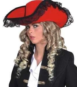 OB 23550 266x300 - Pustni dodatki klobuk za piratko rdeči OB-23550