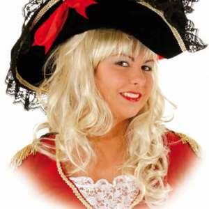 OB 23551 300x300 - Pustni dodatki klobuk za piratko rdeči čipke OB-23551