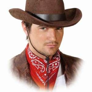 OB 23709 300x300 - Pustni dodatki moški klobuk  Kavbojski rjavi pliš OB-23709