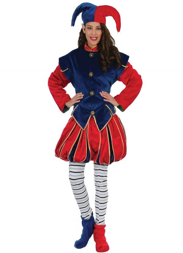 442012 600x829 - Božični kostum ELF škrat rdečo moder