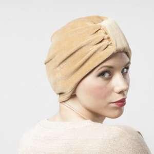 turban velvet pliš