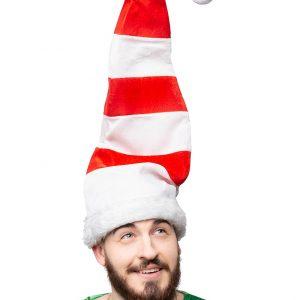 PB DG1622 KAPA ELF 300x300 - Božič dolg Elf klobuk s pom pom  rdeče bela