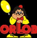 orlob karneval logo - Božiček brada lasulja z kodri in brki dedek mraz  OB-32458
