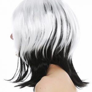 črno bela lasulja